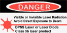 laser warning label